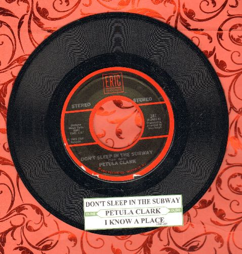 Clark, Petula - Don't Sleep In The Subway/I Know A Place (double-hit re-issue with juke box label) - NM9/ - 45 rpm Records