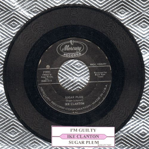 Clanton, Ike - Sugar Plum/I'm Guilty (with juke box label) - EX8/ - 45 rpm Records