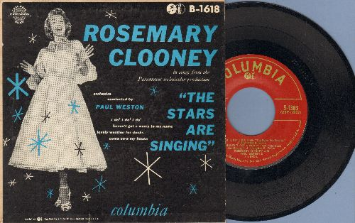 Clooney, Rosemary - The Stars Are Singing: Come On-A My House/I Do! I Do! I Do! I Do!/Haven't Got A Worry/Lovely Weather For Ducks (vinyl EP record with picture cover) - VG6/EX8 - 45 rpm Records