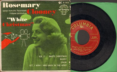 Clooney, Rosemary - White Christmas/Mandy/Snow/Gee I Wish I Was Back In The Army (vinyl EP record with picture cover) - EX8/EX8 - LP Records