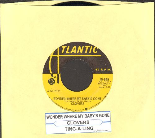 Clovers - Wonder Where My Baby's Gone/Ting-A-Ling (authentic-looking yellow label double-hit re-issue with juke box label) - EX8/ - 45 rpm Records