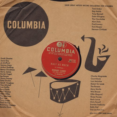 Clooney, Rosemary - Half As Much/Poor Whip Poor Will (10 inch 78rpm record with Columbia company sleeve) - vg7/ - 78 rpm