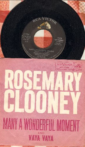 Clooney, Rosemary - Many A Wonderful Moment/Vaya Vaya (with picture sleeve) - NM9/EX8 - 45 rpm Records