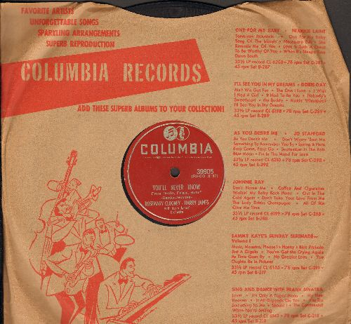 Clooney, Rosemary - The Continental/You'll Never Know (10 inch 78 rpm record with Columbia company sleeve) - EX8/ - 78 rpm