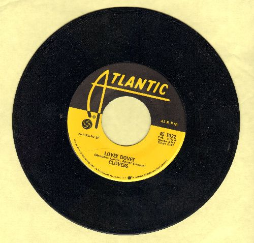 Clovers - Lovey Dovey/Little Mama (authentic-looking yellow label re-issue) - NM9/ - 45 rpm Records