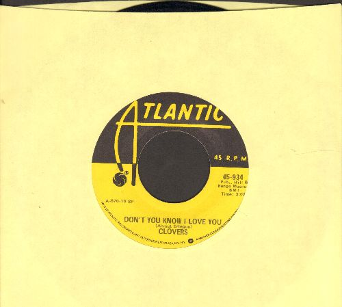 Clovers - Don't You Know I Love You/Skylark (yellow label re-issue) - M10/ - 45 rpm Records