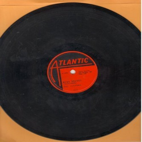 Clovers - Blue Velvet/If You Love Me (10 inch 78 rpm record with vintage Atlantic company sleeve) - VG7/ - 78 rpm