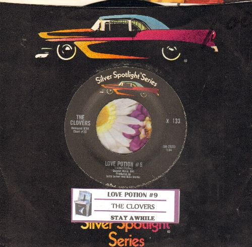 Clovers - Love Potion No. 9/Stay Awhile (double-hit re-issue with juke box label and company sleeve) - NM9/ - 45 rpm Records