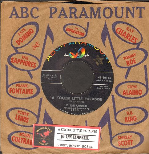 Campbell, Jo Ann - A Kookie Little Paradise/Bobby, Bobby, Bobby (MINT condition with vintage ABC-Paramount company sleeve and juke box label) - M10/ - 45 rpm Records