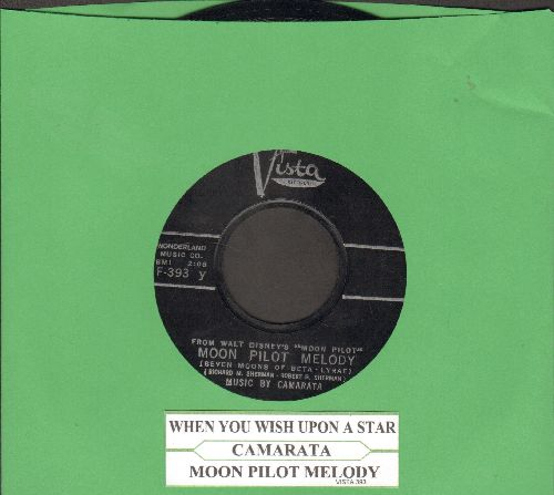 Camarata - Moon Pilot Melody/When You Wish Upon A Star (with juke box label) - NM9/ - 45 rpm Records