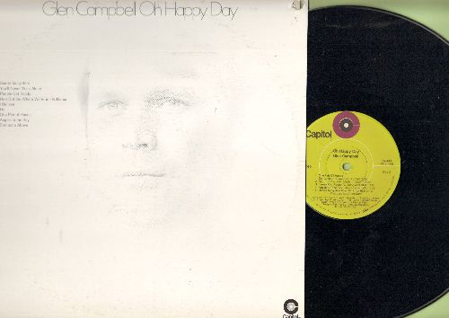 Campbell, Glen - Oh Happy Day: You'll Never Walk Alone, Daddy Sang Bass, Angels In The Sky (vinyl STEREO LP record, punch-hole in upper right cover) - NM9/EX8 - LP Records