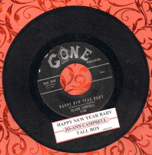 Campbell, Jo-Ann - Happy New Year Baby/Tall Boy (with juke box label) - EX8/ - 45 rpm Records