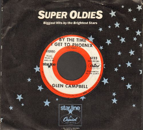 Campbell, Glen - By The Time I Get To Phoenix/Hey Little One (double-hit re-issue with company sleeve) - EX8/ - 45 rpm Records