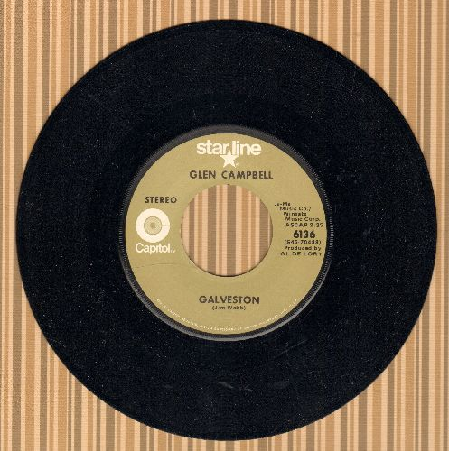 Campbell, Glen - Galveston/Where's The Playground Susie (double-hit re-issue) - NM9/ - 45 rpm Records