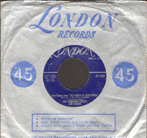 Cambridge Strings & Singers - Theme From -Tunes Of Glory-/Love Theme From -The World Of Suzie Wong (with London company sleeve) - EX8/ - 45 rpm Records