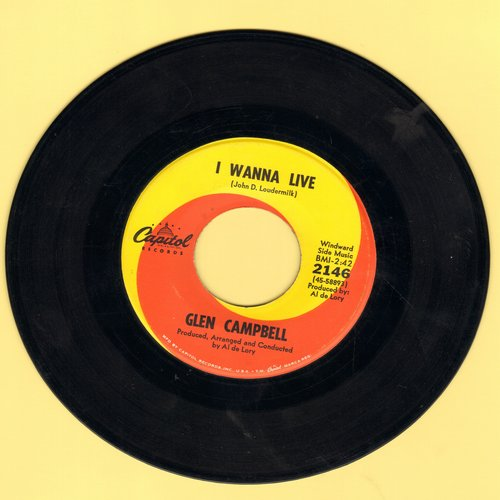 Campbell, Glen - I Wanna Live/That's All That Matters - EX8/ - 45 rpm Records