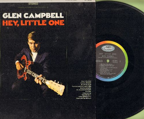 Campbell, Glen - Hey, Little One: Elusive Butterfly, The Impossible Dream, It's Over, Take Me Back (Vinyl STEREO LP record) - NM9/NM9 - LP Records