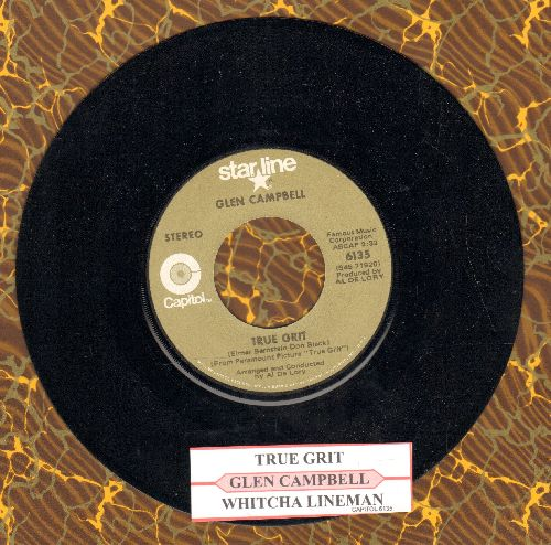 Campbell, Glen - Wichita Lineman/True Grit (double-hit re-issue with juke box label) - NM9/ - 45 rpm Records