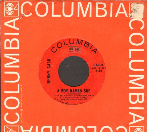 Cash, Johnny - A Boy Named Sue/San Quentin  (with Columbia company sleeve) - NM9/ - 45 rpm Records