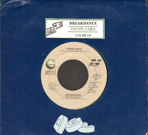 Cara, Irene - Breakdance/Cue Me Up (with juke box label and company sleeve) - EX8/ - 45 rpm Records