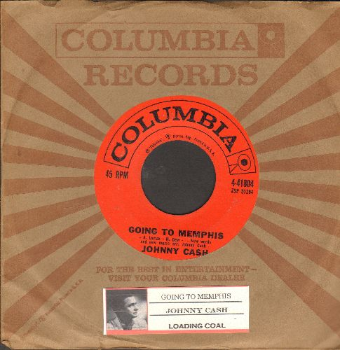 Cash, Johnny - Going To Memphis/Loading Coal (withjuke box label and Columbia company sleeve) - EX8/ - 45 rpm Records