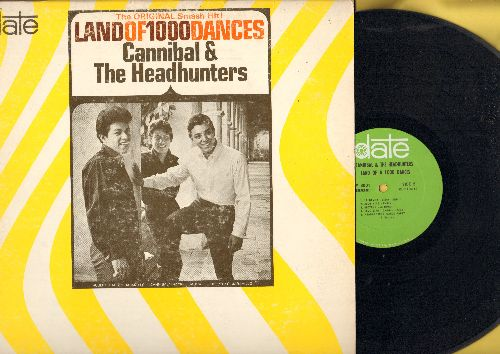 Cannibal & The Headhunters - Land Of 1,000 Dances: My Girl, La Bamba, Headhunter's Dance Party, Boy From New York City (Vinyl MONO LP record, DJ advance pressing) - EX8/VG7 - LP Records
