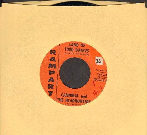 Cannibal & The Headhunters - Land Of 1000 Dances/I'll Show You How To Love Me - VG7/ - 45 rpm Records