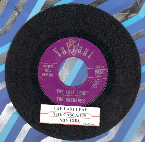 Cascades - The Last Leaf/Shy Girl (with juke box label) - VG7/ - 45 rpm Records