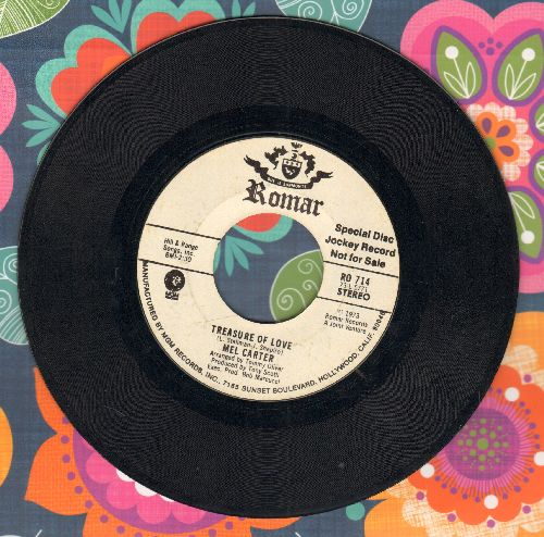 Carter, Mel - Treasure Of Love (double-A-sided DJ advance pressing) - EX8/ - 45 rpm Records