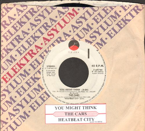 Cars - You Might Think/Heartbeat City (with juke box label and Elektra company sleeve) - NM9/ - 45 rpm Records