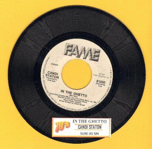 Staton, Candi - In The Ghetto/Sure As Sin (with juke box label) - NM9/ - 45 rpm Records