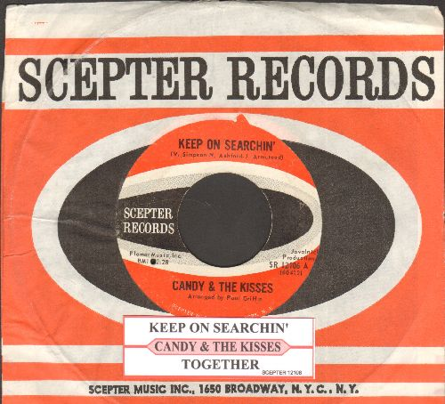 Candy & The Kisses - Keep On Searchin'/Together (with juke box label and Scepter company sleeve) - EX8/ - 45 rpm Records
