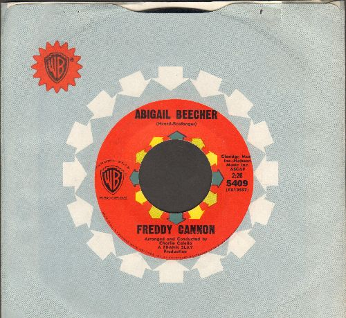 Cannon, Freddy - Abigail Beecher/All American Girl (with vintage Warner Brothers company sleeve) - EX8/ - 45 rpm Records