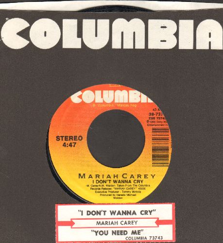 Carey, Mariah - I Don't Wanna Cry/You Need Me (with Columbia company sleeve and juke box label) - NM9/ - 45 rpm Records