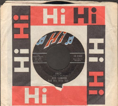 Cannon, Ace - Amen/Down By The Riverside (with Hi company sleeve) - EX8/ - 45 rpm Records