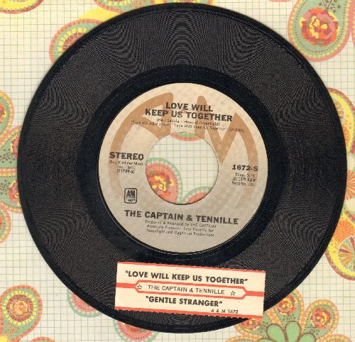 Captain & Tennille - Love Will Keep Us Together/Gentle Stranger (with juke box label) - EX8/ - 45 rpm Records