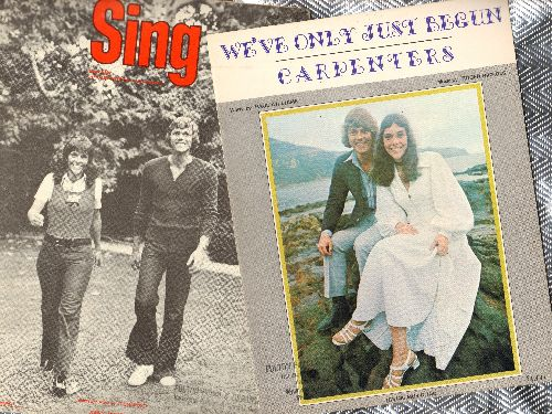 Carpenters - 2 vintage pieces of SHEET MUSIC for the price of 1! Includes hits We've Only Just Begun and Sing. GREAST gift for a fan of the legendary Duo! - EX8/ - Sheet Music