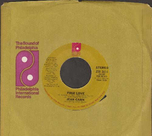 Carn, Jean - Free Love/Where Did You Ever Go (with Philadelpha International company sleeve) (minor wos) - EX8/ - 45 rpm Records