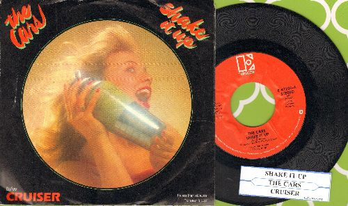 Cars - Shake It Up/Cruiser (with juke box label and picture sleeve) - NM9/EX8 - 45 rpm Records