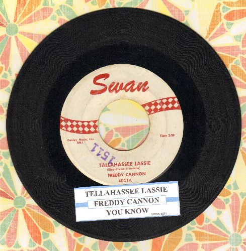 Cannon, Freddy - Tallahassee Lassie/You Know (with juke box label) - VG7/ - 45 rpm Records