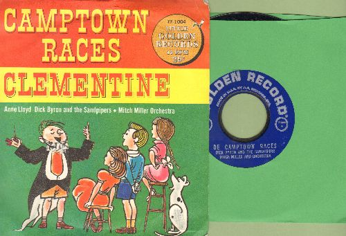Byron, Dick & The Sandpipers - De Camptown Races/Clementine (with picture cover) - NM9/EX8 - 45 rpm Records