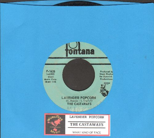 Castaways - Lavender Popcorn/What Kind Of Face (with juke box label)(wol) - VG7/ - 45 rpm Records