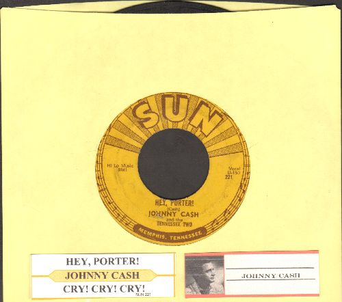 Cash, Johnny - Hey, Porter!/Cry! Cry! Cry! (with juke box label) - VG6/ - 45 rpm Records