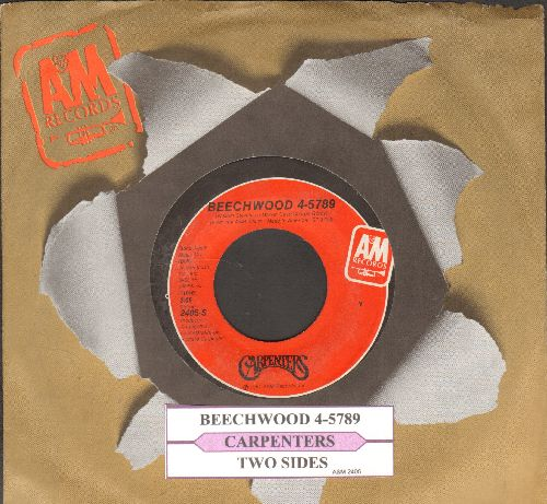Carpenters - Beechwood 4-5789/Two Sides (with juke box label and company sleeve) - NM9/ - 45 rpm Records