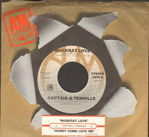Captain & Tennille - Muskrat Love/Honey Come Love Me (with A&M company sleeve and juke box label) - NM9/ - 45 rpm Records