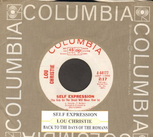 Christie, Lou - Back To The Days Of The Romans/Don't Stop Me (DJ advance pressing with juke box label and Columbia company sleeve) - NM9/ - 45 rpm Records