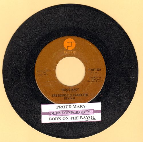 Creedence Clearwater Revival - Proud Mary/Born On The Bayou (MINT condition with juke box label) - M10/ - 45 rpm Records