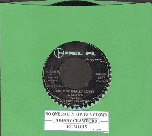 Crawford, Johnny - Rumors/No One Really Loves A Clown (with juke box label) - VG7/ - 45 rpm Records