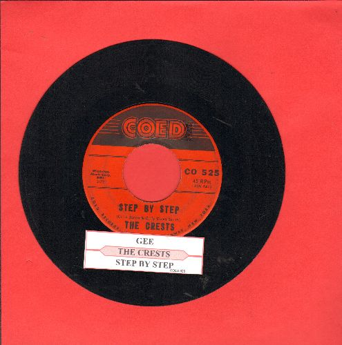Crests - Step By Step/Gee (But I'd Give The World) (with juke box label) - VG7/ - 45 rpm Records