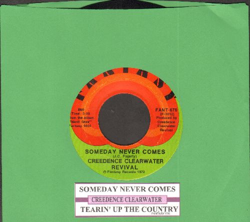 Creedence Clearwater Revival - Someday Never Comes/Tearin' Up The Country (with juke box label) - VG7/ - 45 rpm Records